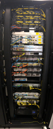 Cisco Equipment in Rack